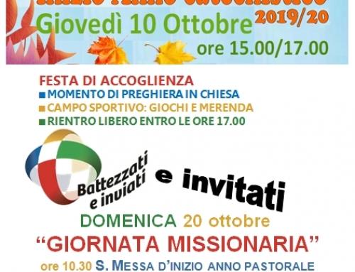 INIZIO CATECHISMO 2019/20